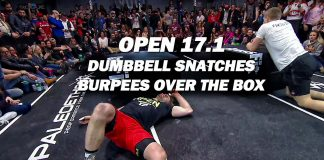 17.1 dumbbell snatches burpees