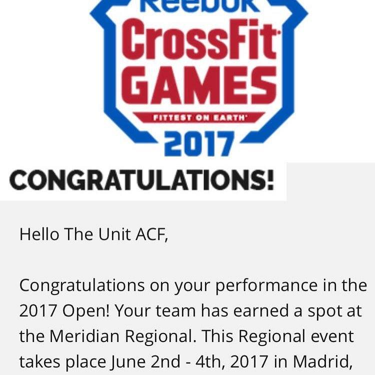 confirmación The Unit CrossFit
