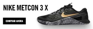 Metcon 3 black x gold mujer