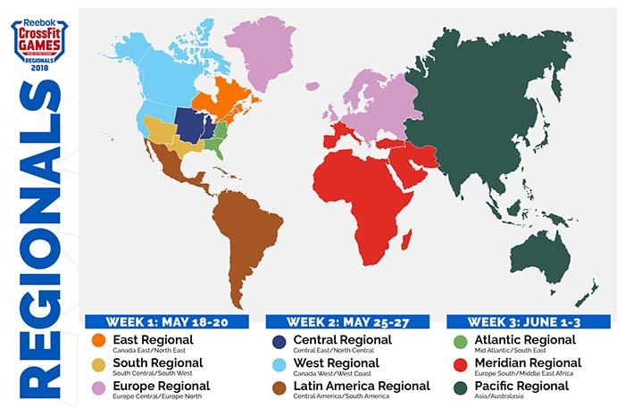 Mapa con las nuevas regiones