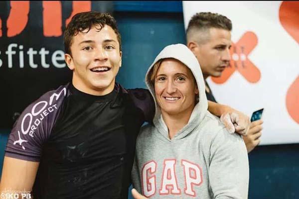 Bryan y su entrenadora Eva Cortiella, la cual se ha clasificado para los Regionals