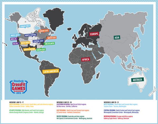 Regionales mapa