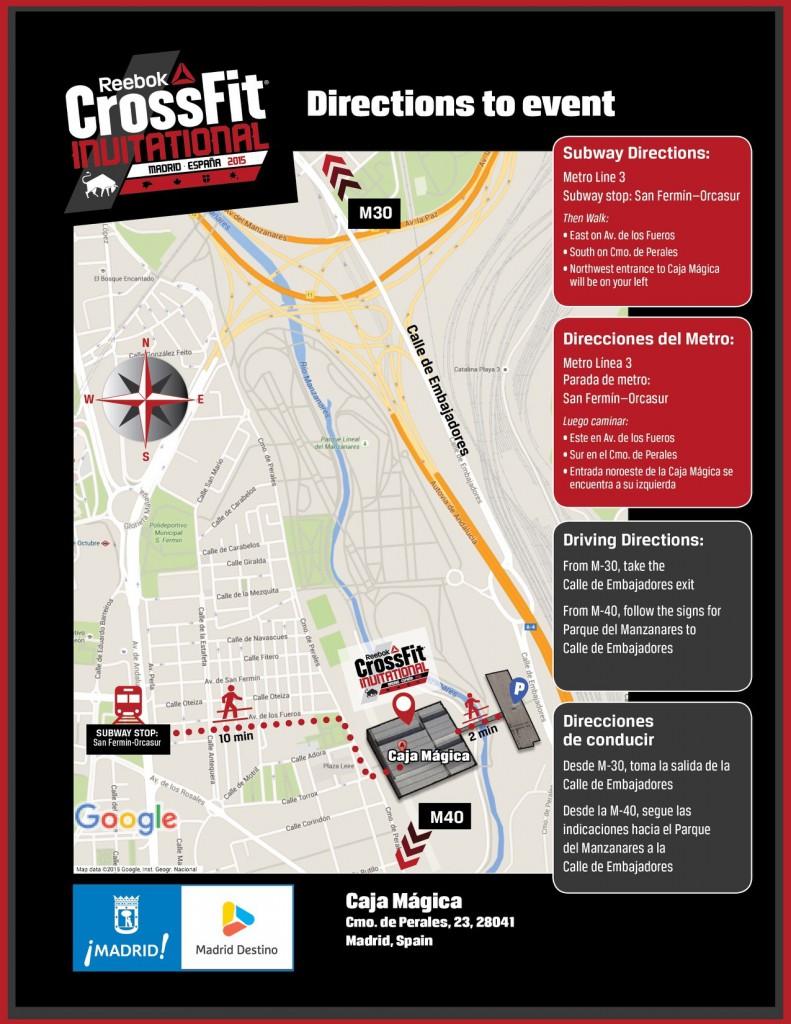 CrossFit Invitational Map