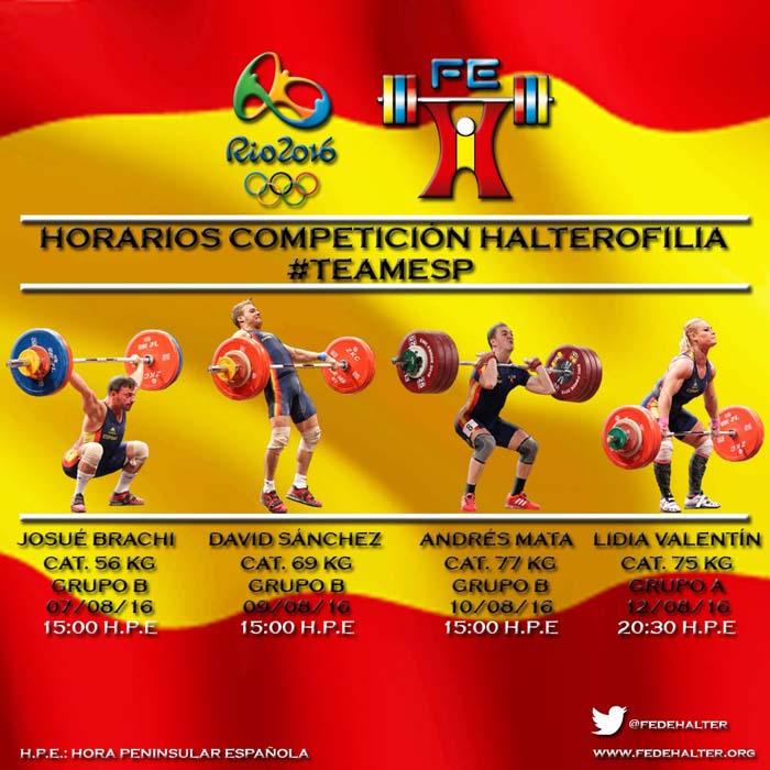 Horarios-halterofilia-rio-juegos-españoles